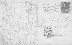 Latvian Written Postcard